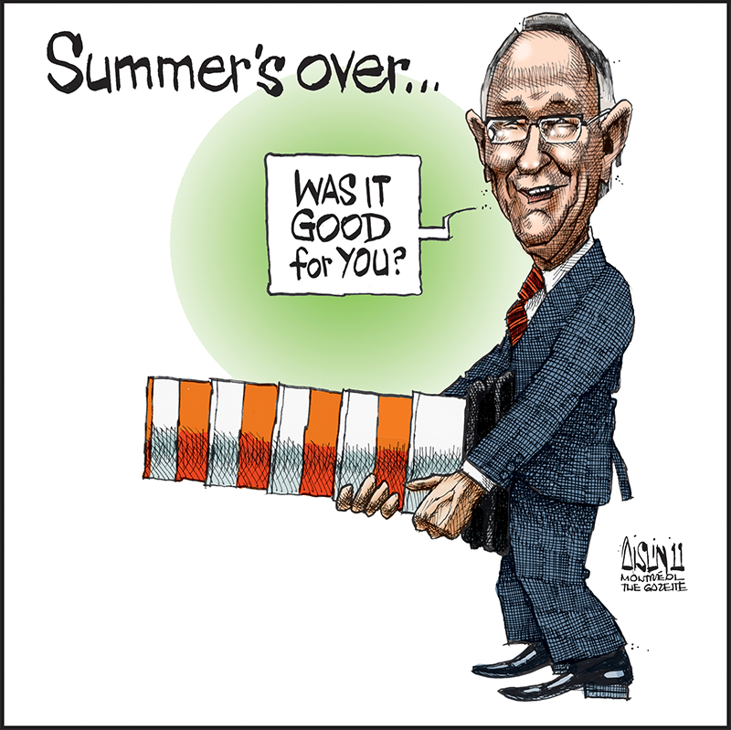 Gérald Tremblay, Montreal Gazette, September 23, 2011. Gift of Terry Mosher, M2016.28.17 © McCord Museum.