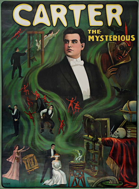 Illinois Litho Company, <i>Carter the Mysterious</i>, 1905. Purchase, funds graciously donated by La Fondation Emmanuelle Gattuso, M2014.128.86 © McCord Museum