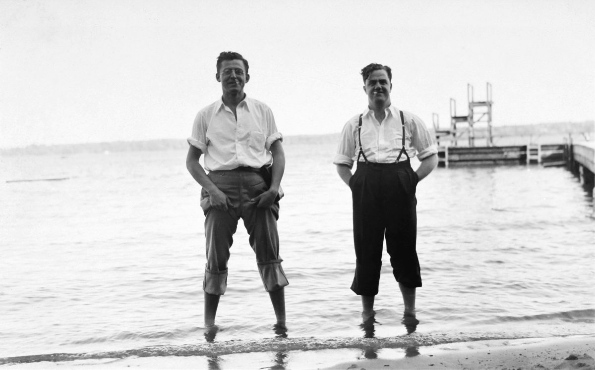 "Attributed to Robert E. Cooper, <i>""Hot Footed"": Bob and Albert at St. Lawrence Park, Brockville, Ontario</i>, 1938. Gift of Marjorie D. Cooper Gawley, M2004.94.37.80, McCord Museum"